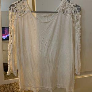 nordstrom white 3/4 sleeve shirt